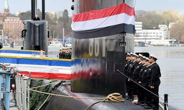 """الغواصة الألمانية """"تحيا مصر"""" تصل المياه الإقليمية المصرية"""