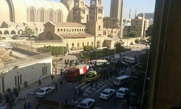 25 قتيلاً و50 جريحاً فى انفجار بالكاتدرائية المرقسية بالعباسية