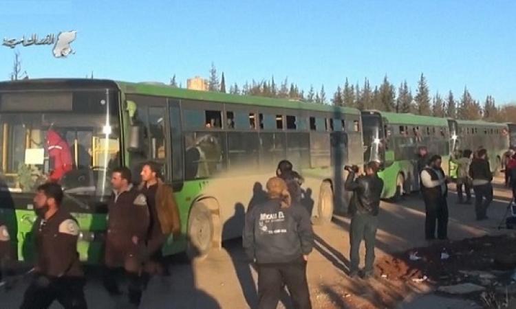 تواصل عمليات الإجلاء من شرق حلب وبلدتى كفريا والفوعة