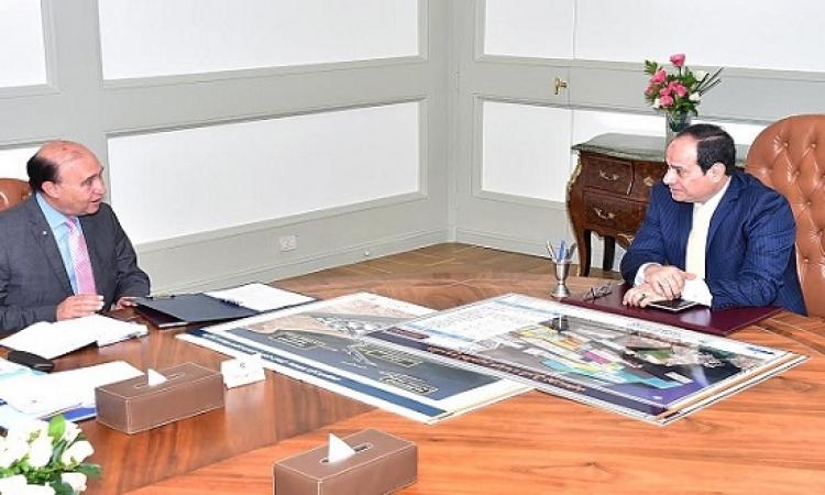 السيسى يؤكد لمميش أهمية مواصلة تطوير هيئة قناة السويس