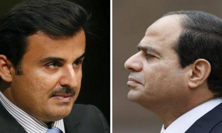 رسالتان موجهتان من السيسى لقطر خلال كلمته بالقمة العربية