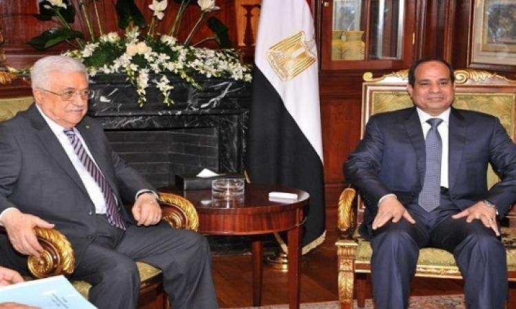 قمة مصرية – فلسطينية اليوم بين السيسى وأبو مازن