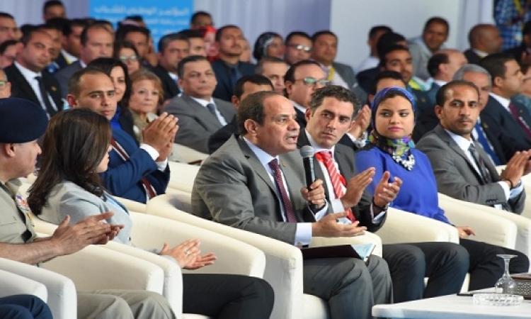 """السيسى للمصريين: """"استحملوا سنة كمان.. وفيه انتخابات اختاروا ما شئتم"""""""