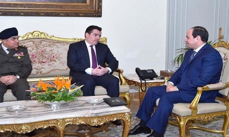 السيسى يبحث تعزيز التعاون العسكرى مع وزير الدفاع القبرصى