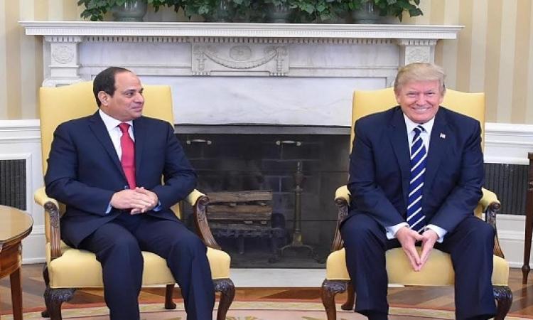 ترامب والسيسى يتفقان على محاربة الارهاب