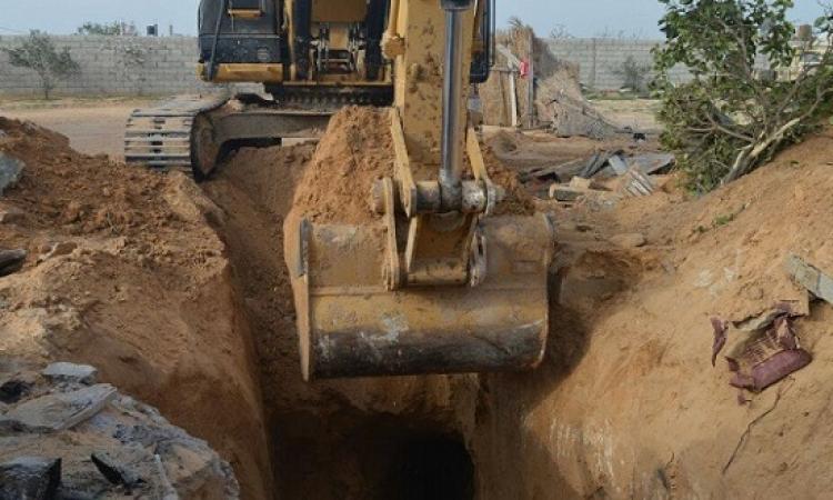 المتحدث العسكرى : اكتشاف وتدمير نفق جديد بشمال سيناء