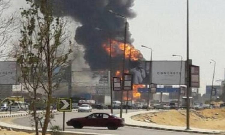 السيطرة على حريق نتيجة انفجار خط غاز بالتجمع الخامس