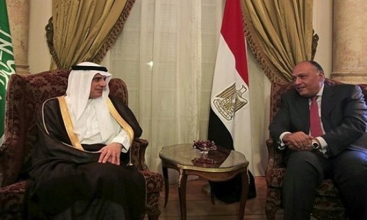 شكرى والجبير يتفقان على عقد جولة مشاورات فى القاهرة قريباً