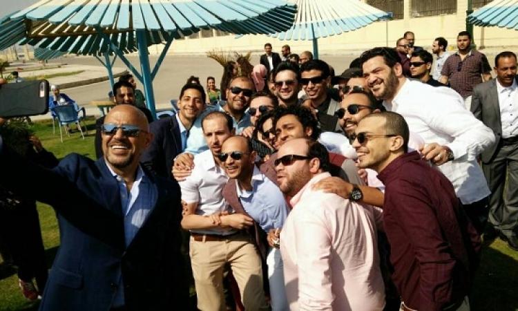 """بالصور.. أشرف عبد الباقى أول الحضور فى عقد قران """"الميرغنى وإسراء"""""""