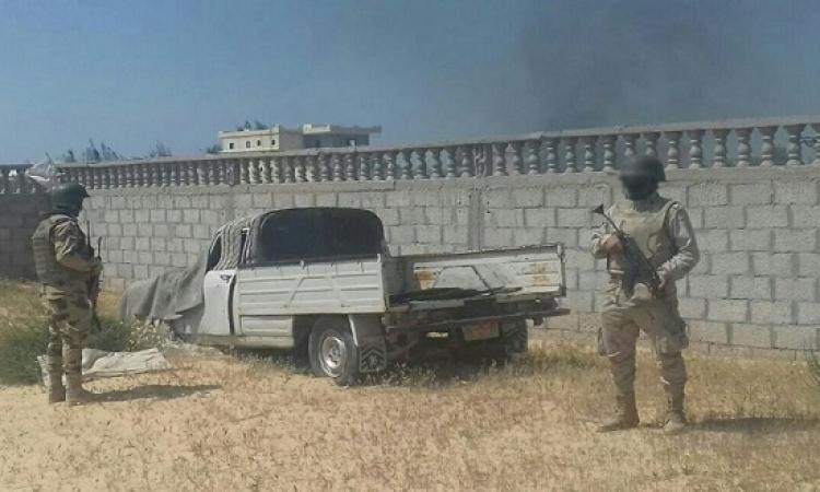 الجيش يقتل 6 تكفيريين ويدمر مخزن للعبوات الناسفة فى سيناء