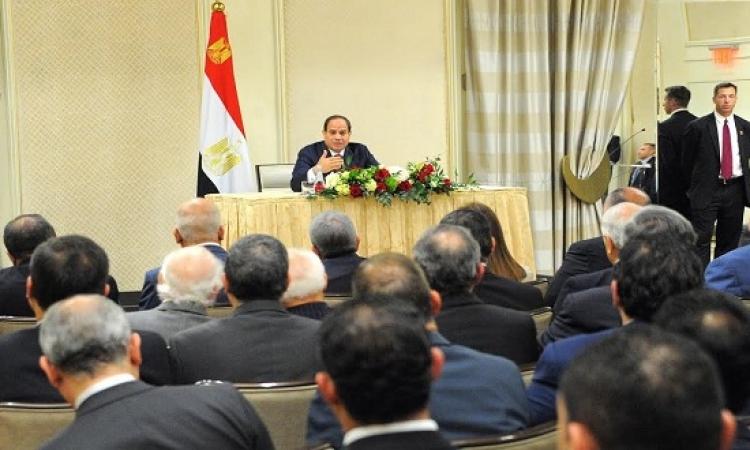 بالصور .. السيسى يلتقى ممثلى الجالية المصرية بواشنطن