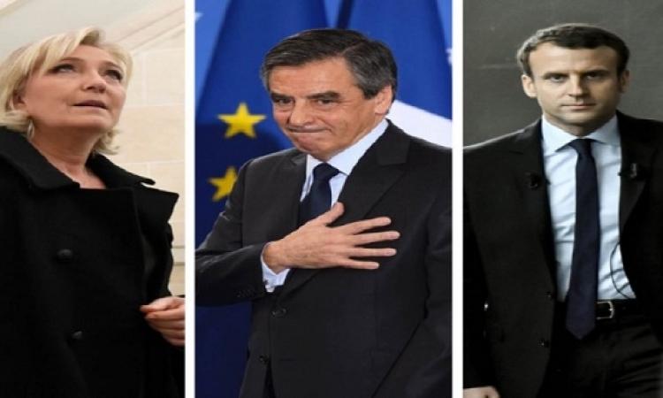 """""""ماكرون"""" و""""لوبان"""" يتأهلان للجولة الثانية من الانتخابات الفرنسية"""
