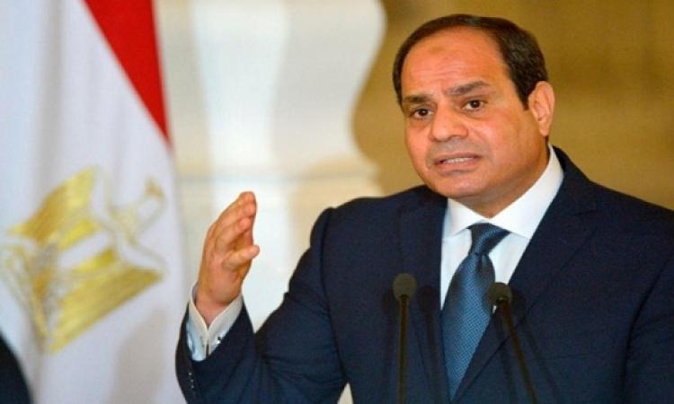 """بالفيديو.. السيسى يشكر الشباب القائمين على حملة """"مصر 1095"""""""