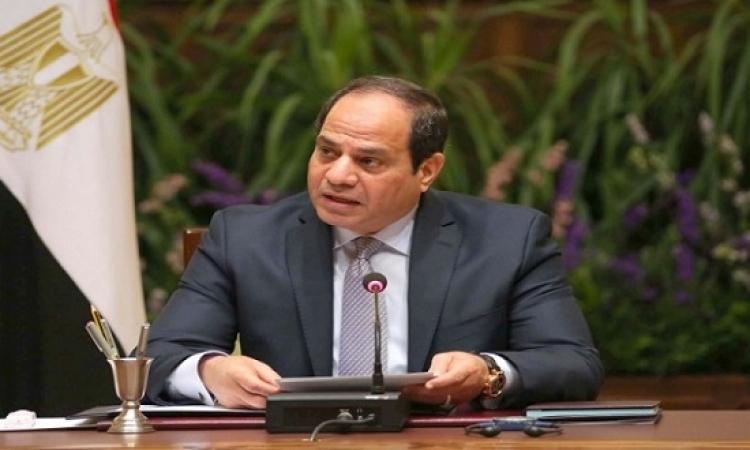 """السيسى يناقش مع وزيرى التجارة والنقل """"مدينة الجلود"""" وتطوير قطاع السكك الحديدية"""