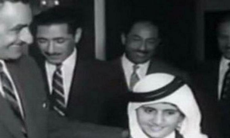 الشيخ محمد بن راشد ينشر صورة نادرة له مع الزعيم