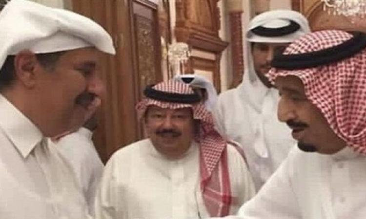 حقيقة لقاء الملك سلمان بوزير خارجية قطر السابق