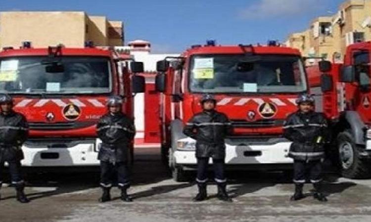 12 سيارة إطفاء لمحاولة إخماد حريق هائل بالبدرشين