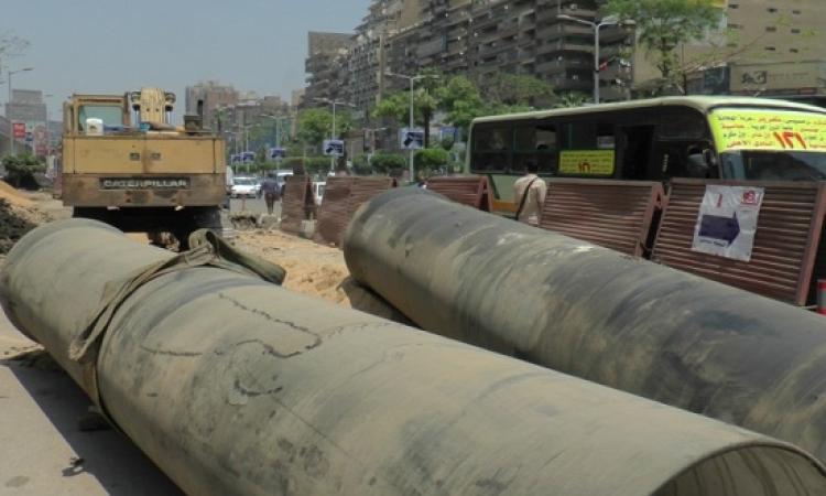 فتح شارع جمال الدين الأفغانى عقب نقل مرافق المترو بالجيزة