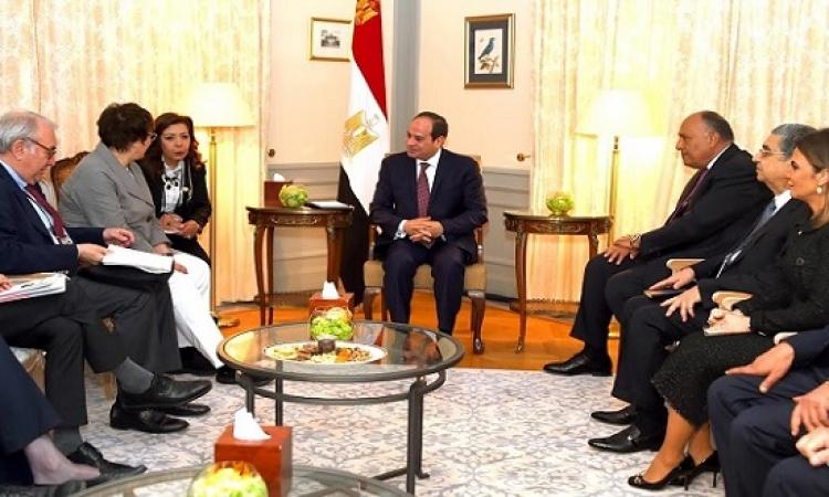 الرئيس السيسى يشيد بتطور العلاقات التجارية بين مصر والمانيا