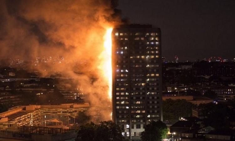 حريق هائل يلتهم برج سكنى فى لندن