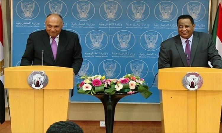 شكرى يبحث مع وزير خارجية السودان تعزيز التعاون الثنائى