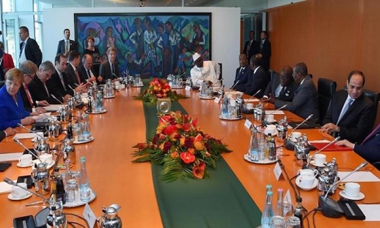 السيسى يشارك فى مائدة مستديرة دعت إليها ميركل حول الاستثمار فى الدول الأفريقية