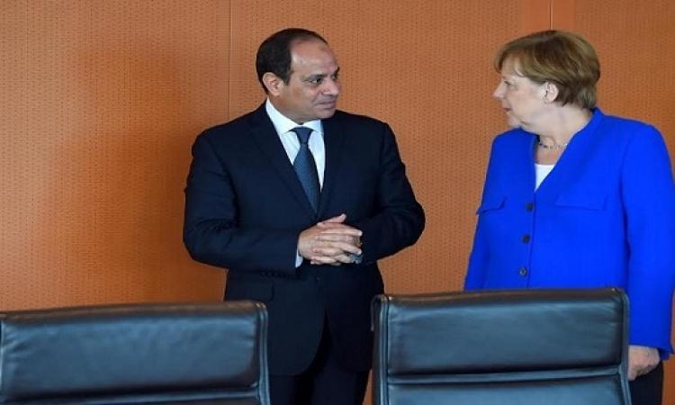 السيسى وميركل يتفقان على ضرورة مكافحة الإرهاب