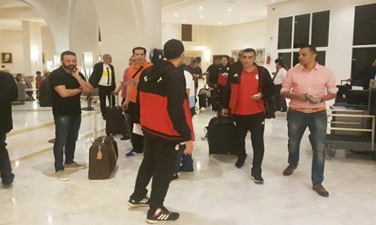 المنتخب الوطنى يصل مقر إقامته بتونس استعداداً لمواجهة الأحد