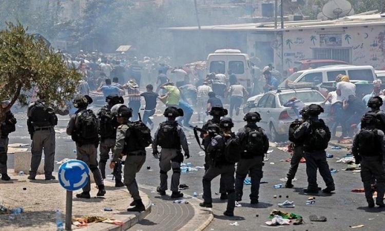 مواجهات بين شبان فلسطينيين وقوات الاحتلال قرب مستوطنة بيت إيل شمال رام الله