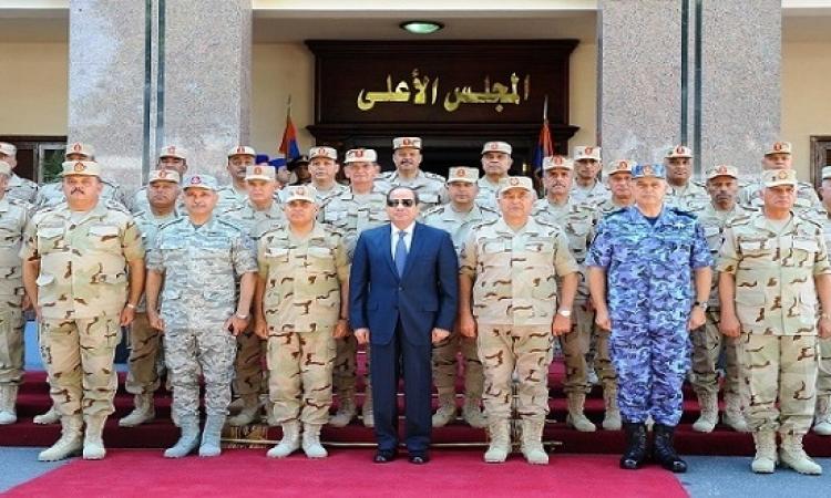 خلال اجتماعه بالمجلس الأعلى للقوات المسلحة .. السيسى يؤكد مواصلة العمل لضمان الحفاظ على أمن مصر
