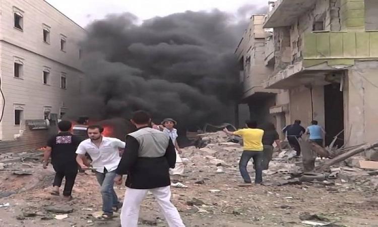تفجير انتحارى فى إدلب يسفر عن عشرات القتلى والجرحى