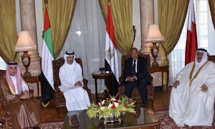 شكرى يشارك اليوم فى اجتماع الرباعى العربى بالمنامة لبحث تطورات الأزمة القطرية