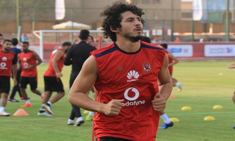 بالصور.. أحمد حجازي في أول تمريناته مع ويست بروميتش