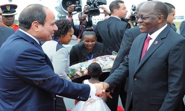 الرئيس السيسى يواصل جولته الأفريقية التى بدأها أمس بتنزانيا