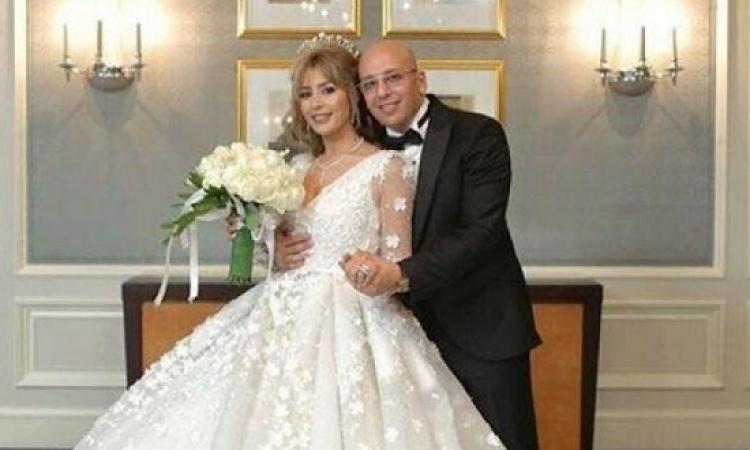 بالصور.. جنات بفستان اسطورى فى حفل زفافها