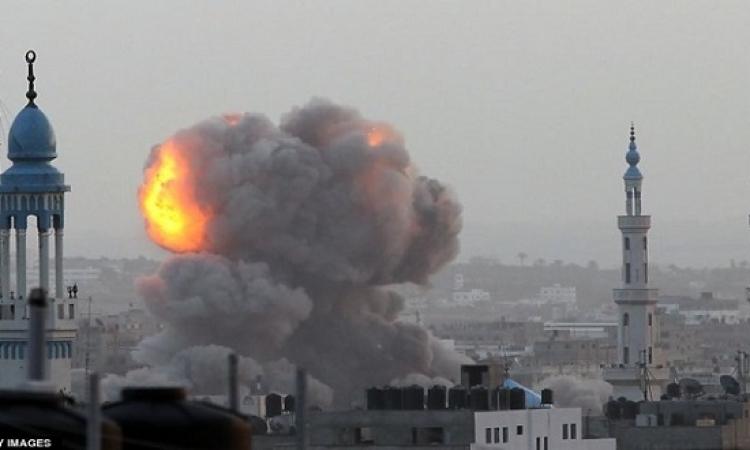 3 اصابات جراء قصف إسرائيلى استهدف موقع عسكرى لحماس شمال غزة