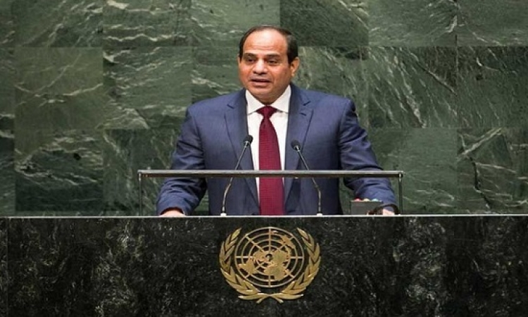 السيسى يلقى اليوم بيان مصر فى الجمعية العامة للأمم المتحدة