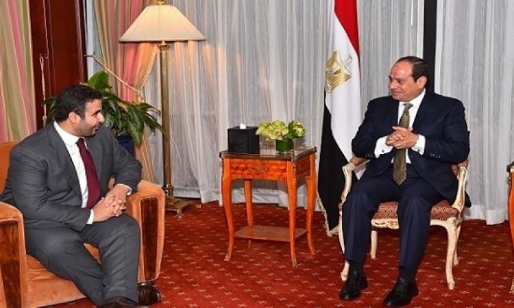 الرئيس السيسى يستقبل سفير المملكة العربية السعودية لدى الولايات المتحدة