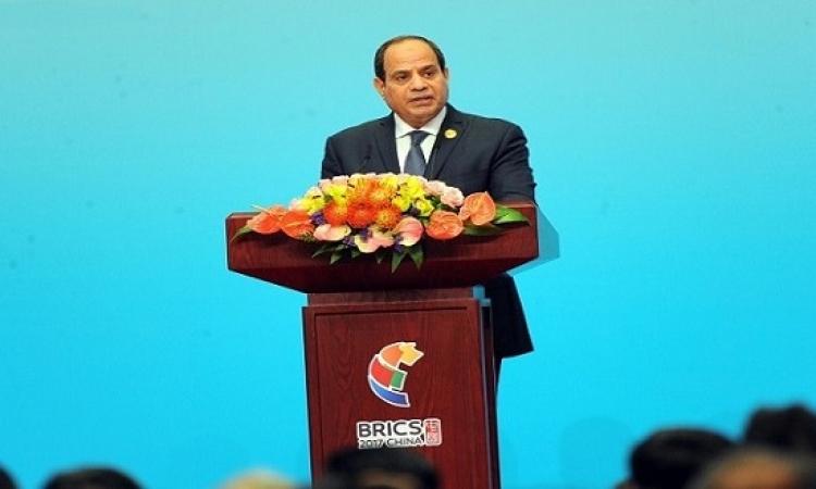 السيسى أمام منتدى بريكس : مشروعاتنا القومية تحفز الاقتصاد وتوفر الوظائف