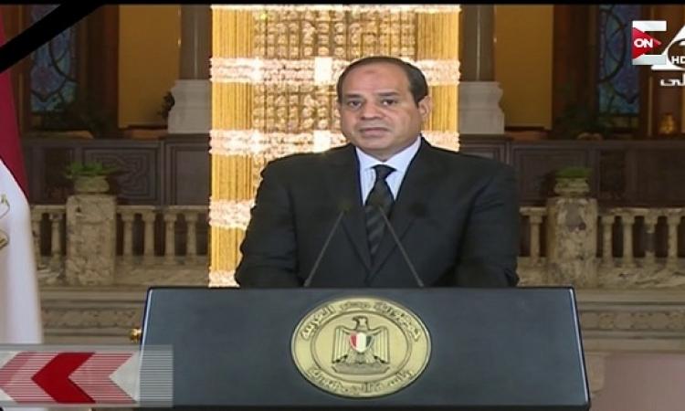 """""""بخارى"""" يؤكد للسيسى أهمية تعزيز التعاون بين دول إفريقيا للتصدى للإرهاب"""