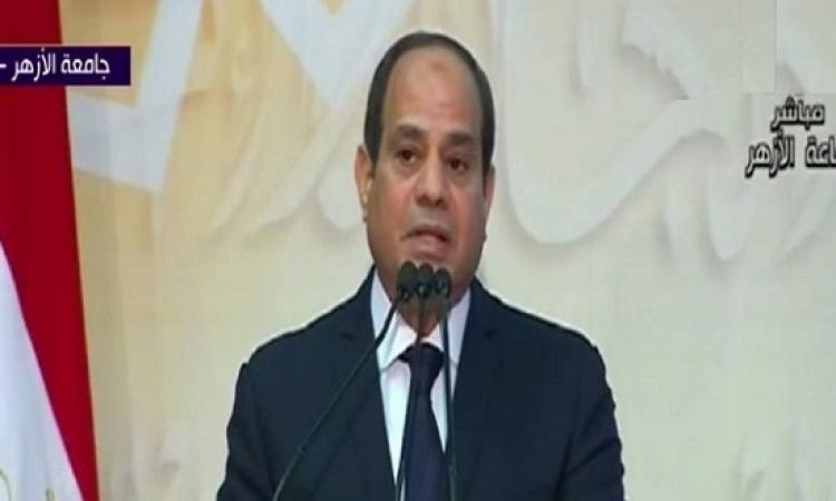 الرئيس السيسى يكلف القوات المسلحة والشرطة بإعادة الأمن فى سيناء خلال 3 أشهر