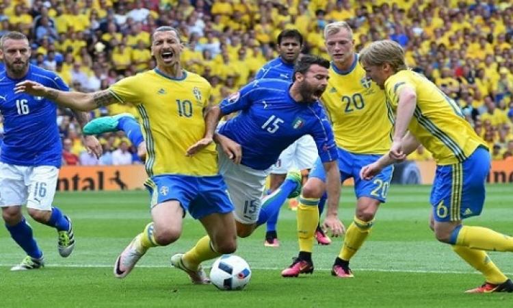 إيطاليا تستضيف السويد فى لقاء الفرصة الأخيرة للتأهل للمونديال