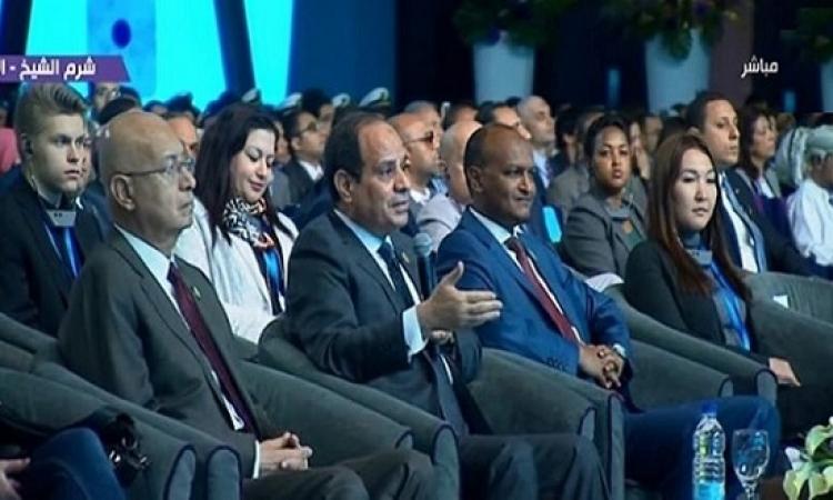 السيسى أمام منتدى الشباب : النمو السكانى المتزايد أبرز التحديات التي تواجه مصر