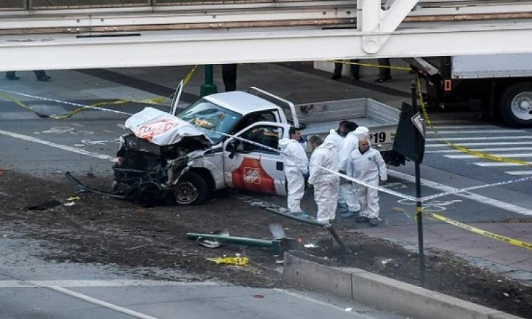 8 قتلى و11 مصاباً فى حادث دهس مانهاتن .. واعتقال منفذ الهجوم الاوزباكى