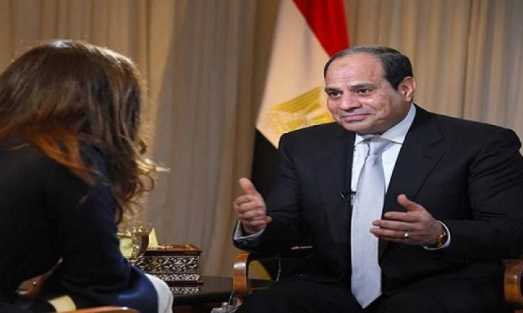 بالصور .. السيسى لـ CNBC الأمريكية : الشعب صاحب الحق فى اختيار رئيسه