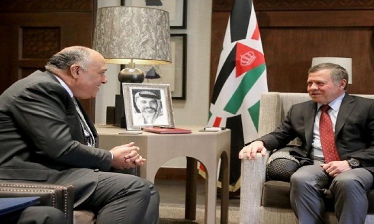 شكرى يصل الأردن .. ويلتقى الملك عبد الله الثانى