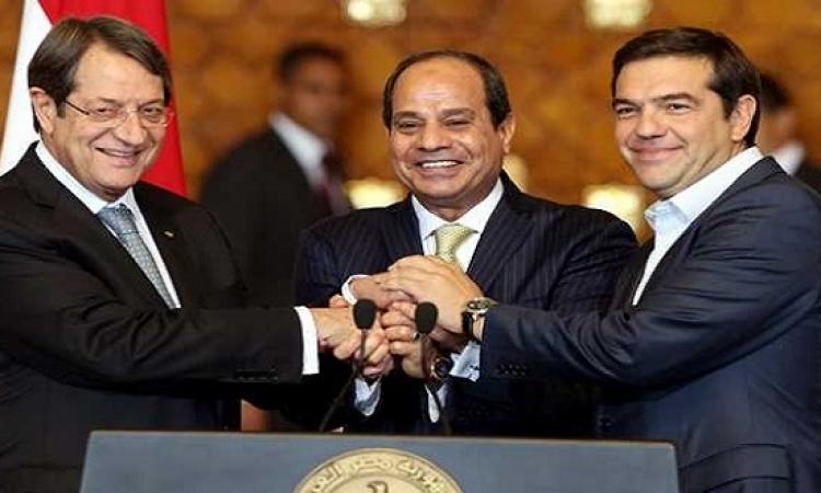 انطلاق اجتماعات القمة المصرية – القبرصية – اليونانية الخامسة بنيقوسيا بمشاركة السيسي