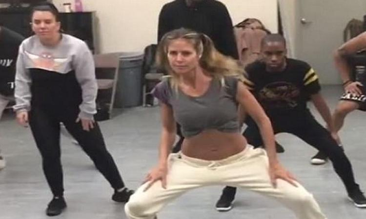 بالفيديو والصور.. هيدى كلوم تستعرض رشاقة جسدها بالرقص