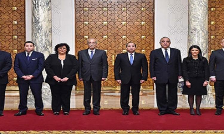أداء الوزراء الجدد لليمين الدستورية أمام الرئيس السيسى