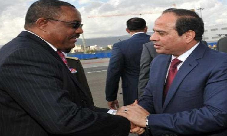 السيسى يستقبل رئيس وزراء إثيوبيا